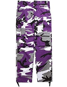 Juleya Cargo Pants Men Women Pantalones de camuflaje Suelto Hip Hop Sweatpants