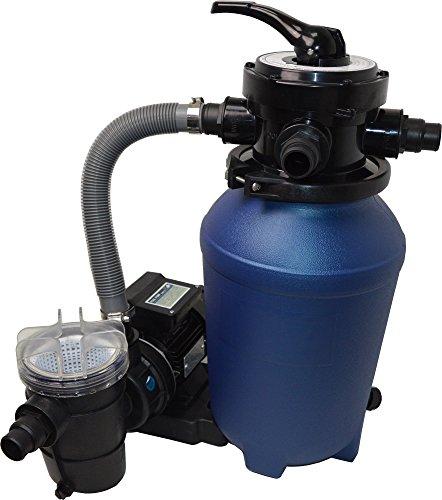 SPIRATO Splash 250 Sandfilteranlage mit Pumpe, blau/schwarz