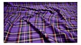 Fabrics-City LILA ORIGINAL SCHOTTENKARO STOFF TARTAN