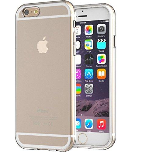 Funda para Apple iPhone 6 / 6S 4,7 Pulgada Smartphone, MaiJin TPU Transparente Carcasa Case Bumper con Absorción de Impactos y Espalda Cover