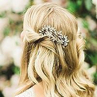 Jovono Peines de pelo para novia, para novia o dama de honor (tamaño 1)
