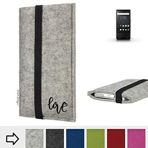 flat.design Handy Hülle Coimbra für BlackBerry KEYone Black Edition personalisierbare Handytasche Filz Tasche Love Liebe