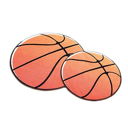 Rund Ball Kinder Erwachsener Cartoon Tier faltbare Bodenmatte Sportmatte kriechende Matte Anti-Rutsch-Matte Teetisch Teippich (60 CM, Basketball)