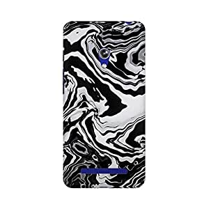 Mobicture Abstract Marble Print Premium Printed High Quality Polycarbonate Hard Back Case Cover for Asus Zenfone Go With Edge to Edge Printing