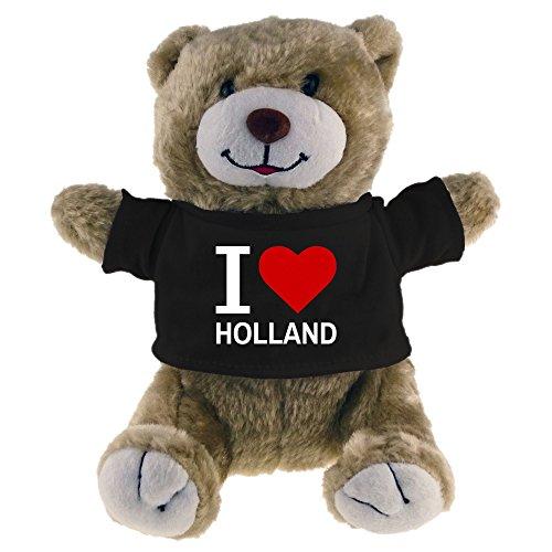 Kuscheltier Bär Classic I Love Holland beige