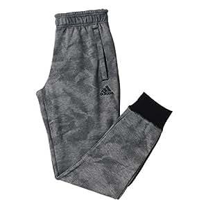 Adidas AJ6567 - Pantaloni da Bambino, Colore Grigio/Nero (Brebas/Nero), Taglia 122