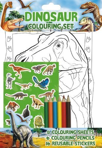 Dinosaur Colouring Set - Party Bag / Stocking Filler