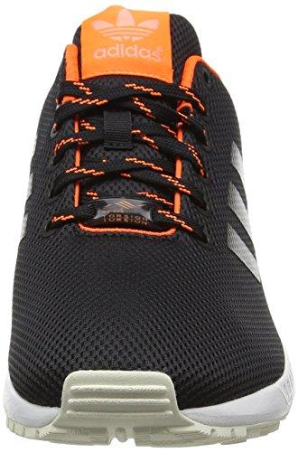 adidas Zx Flux, Chaussures de Running Compétition Mixte Adulte Noir (Core Black/Solar Orange/Sun Glow)