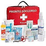 AIESI® Cassetta medica di pronto soccorso (Borsa) con ALLEGATO 2 per aziende meno 3 dipendenti # Conforme DM388/DL81# Made in Italy