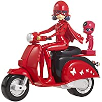 Bandai Ladybug Son Scooter Miraculous Figurine, 39880, Rouge Noir