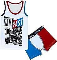 PiriModa Ropa Interior Masculina Set Boxershort y Camiseta Interior de algodón 92-146 - 1-10 años