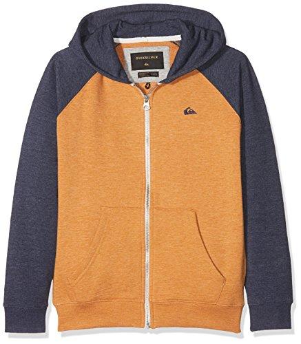 Quiksilver Jungen Everyday Hoodie mit Reißverschluss, Jungen, Everyday, goldene Eiche (Sweatshirt Quiksilver Zip Full)