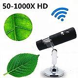 neraon WiFi Elektronische Handheld-Digital-Mikroskop Vergrößerung 50–1000x High Definition Elektronische Tragbare Wireless Digital Erkennung Vergrößern aufladbare für Android4.2/ios8.0Handy und FLA