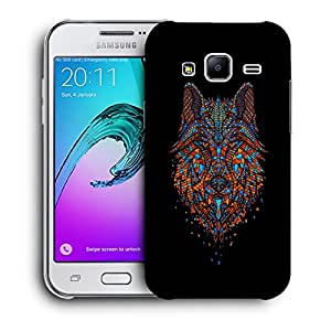 Snoogg Abstract Fox Designer Protective Back Case Cover For SAMSUNG GALAXY J2