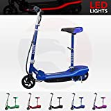 We R Sports® Electric E Scooter Ride on Rechargeable Battery Scooters With Led Light And Seat (Blue)