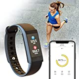 inDigi Ftbracelet-X6S-Bk-So08 X 6S Fitness Tracking Smartwatch Band with Heart Rate Monitor, Blood