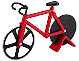 1Stück Fahrrad Form Edelstahl Gebäck Aluminiumguss Pizzaschneider Rad Schneide rot
