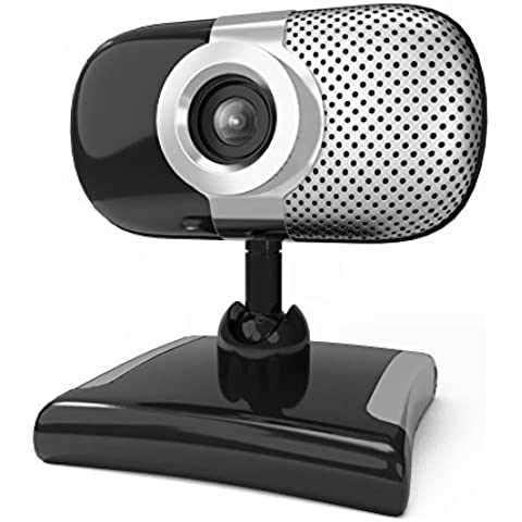 Kinobo B7 USB Webcam con micrófono para Skype – Cámara web para portátil con micrófono USB integrado, pantalla LCD, Windows 7, 8, Windows 10 – 2 nd Generation