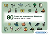 90 Fragen und Antworten zum Jahreskreis: Frage-Antwort-Karten für die 1. und 2. Klasse , A6 (Mein Sternchenheft)