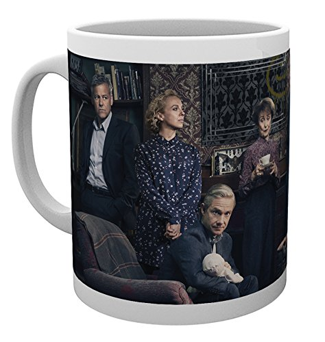 Sherlock Tasse Charaktere Sherlock Holmes Watson Lestrade zur Serie 300ml Keramik Adler-kaffee-tasse