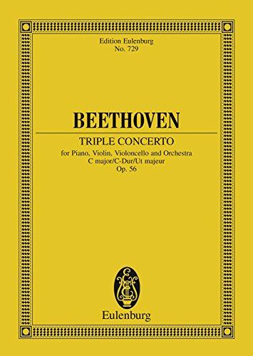 Triple Concerto C major: Op. 56 (Eulenburg Studienpartituren) (English Edition)