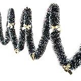 Winbang Addobbi Natalizi, 2m Portatile Festa di Natale Nastro colorato Albero di Natale Decorazione Ornamenti Regalo Hanging, Knot Giallo