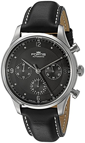 Fortis Men's Analog Automatic-self-Wind Watch with Leather-Calfskin Strap 904.21.11 L
