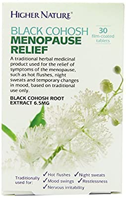 Higher Nature Black Cohosh Menopause Relief 30 tablets