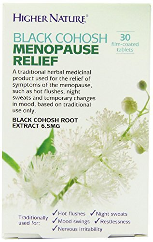 Higher Nature Black Cohosh Menopause Relief 30 tablets Test