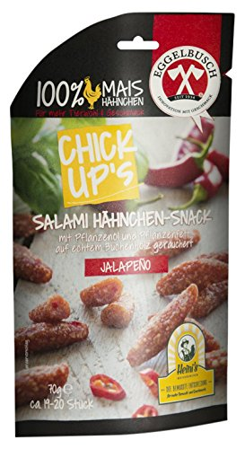 ChickUp's Hähnchen Snack Jalapeno, 10er Pack (10 x 70 g)