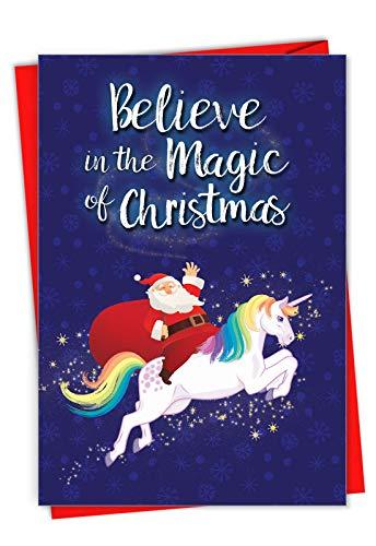 """Weihnachtskarte mit Umschlag""""Believe In The Magic"""" (englischsprachig), mit englischer Aufschrift C7056XSG"""