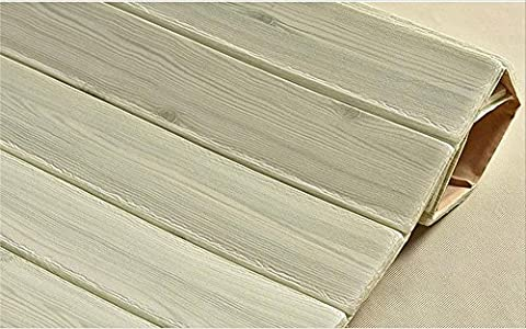 H&M Papier peint bois texture papier peint autocollant 3D stéréo en mousse décoration salon restaurant TV wall wallpaper-70cm (W) * 70cm (L) * 10mm (H) , light green
