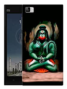 "Humor Gang Hanuman Abstract Art - Hindu God Printed Designer Mobile Back Cover For ""Xiaomi Redmi MI3"" (3D, Matte Finish, Premium Quality, Protective Snap On Slim Hard Phone Case, Multi Color)"