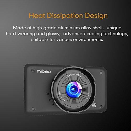 Mibao Dash Cam per Auto Telecamera Auto Dashcam 1080P con 3.0″ LCD, 170 Gradi, 6 Glens, G-Sensor, WDR, Rilevazione di Movimento, Registrazione in Loop, Monitor di Parcheggio - 4