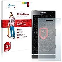 3x Vikuiti MySafeDisplay Protector de Pantalla DQCT130 de 3M para Sony Ericsson Xperia S LT26i