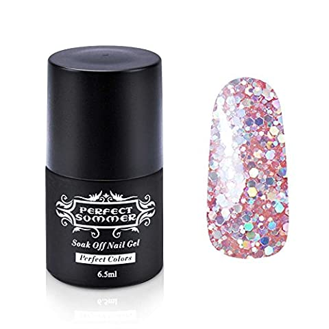 Perfect Summer Vernis à Ongles Gel UV Semi-Permanent Soak Off Nail Art French Manucure 6.5ml #216
