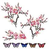 8 piezas elegantes clásicos bordados flor mariposa parches bricolaje vestidos de la camiseta Jeans Ropa bolsas cheongsam parches conjunto