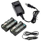 DSTE 2-pacco Ricambio Batteria + DC01E Caricabatteria per Sony NP-F550NP-F330NP-F570RV100CCD-TR67 SC55E CCD-TR818/CCD-TR87CCD-SC55SC6SC65SC7CCD-TR67SC7/E SC8/E SC9CCD-TR67TR1CCD-TR67TR11