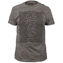 Joy Division - Camiseta - Unisex de color Gris de talla Large - Joy Division - Uomo Unknown Pleasures Fitted (Camiseta) in Heather Grigio, Size: L...