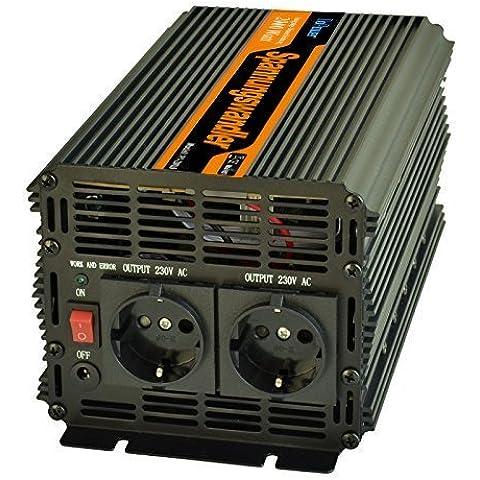 Inversor electrico de 2000w transformador de voltaje de 12v a 220v de onda sinusoidal modificada