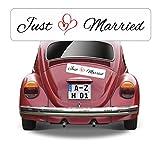 Magnetschild Hochzeit beschriftet mit Just Married AZ0556