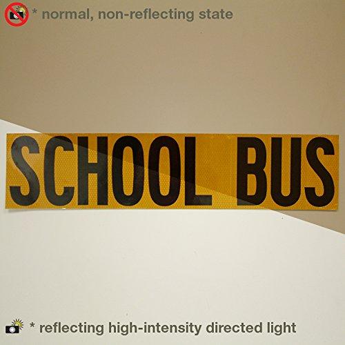 Oralite Reflexite V99microprismatic Conspicuity Schule Bus Schilder 9in. X 40in. Gelb mit Schwarz drucken