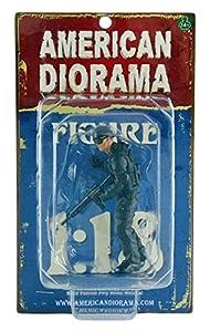 American Diorama-77419-Figura SWAT-Flash-Escala 1/18-Azul