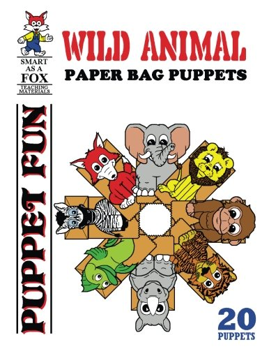 Wild Animal Paper Bag Puppets (Paper Bag Puppet)