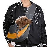 Freebily Hundetragetasche Single-Schulter Haustier Tragetasche Umhängetasche Rucksack für Hund Welpen