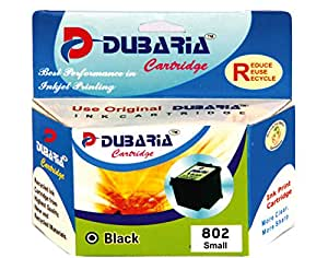 Dubaria 802 Black Ink Cartridge Compatible For HP 802 Black