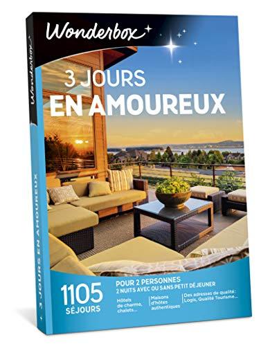 Wonderbox - Coffret cadeau pour noel - 3 JOURS EN AMOUREUX - plus de 1.000 séjours...