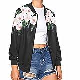 VEMOW Herbst Beiläufige Damen Frauen Lange Hülsen Lose Dünne Klage Outwear Patchwork eingekerbt Blazer Tägliche Sport Außenmantel Jacke(Schwarz, EU-38/CN-M)