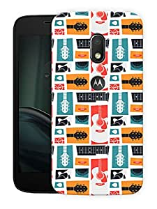 "Humor Gang music life and guitars Printed Designer Mobile Back Cover For ""Motorola Moto G4 Play"" (3D, Matte Finish, Premium Quality, Protective Snap On Slim Hard Phone Case, Multi Color)"