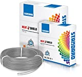 Standard Single Core PVC insulated HTR FR Wire 2.5 sq mm wire (Grey)